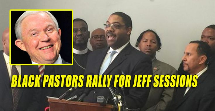 """Black pastors are defending Trump attorney general pick Jeff Sessions who has been the victim of typical leftist attacks of """"racism."""" From USAToday A group of black pastors Monday criticized African-American opponents of attorney general nominee Sen. Jeff Sessions for demonizing the Alabama Republican, instead characterizing him as someone who shows """"respect and care for people of all races."""" The ministers are holdout Sessions supporters in a much larger crowd of opponents among Southern…"""