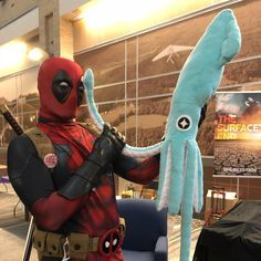 Ive seen enough hentai to know where this is going........... #deadpool #deadpool2 #deadpoolcore #deadpoolcorps #deadpoolcosplay #deadpoolcostume #cosplayer #cosplayersofinstagram #cosplayersofig #iveseenenoughhentai #iveseenenough #tentacle #squid #anime #animetrope #connooga #connooga2018 #marvelanime #anime