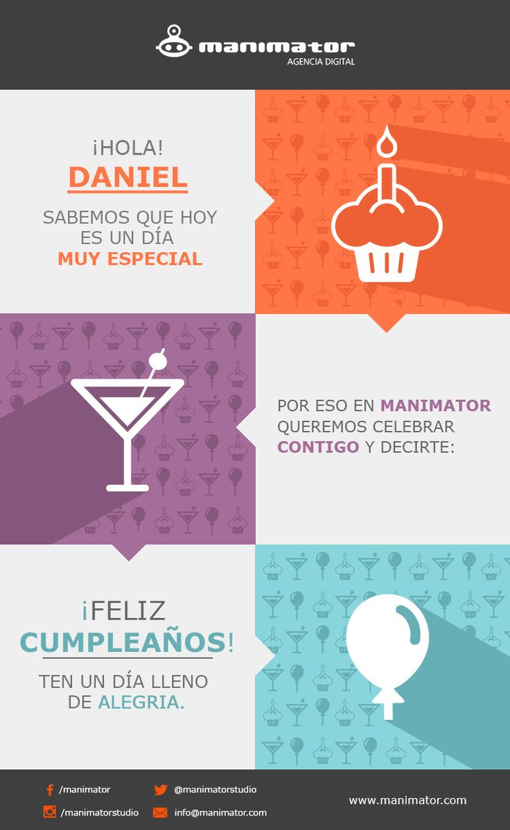 E-Mail Marketing #Manimator #Cumpleaños