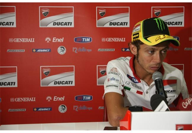 I met Valentino Rossi today at Mugello but he was sad...