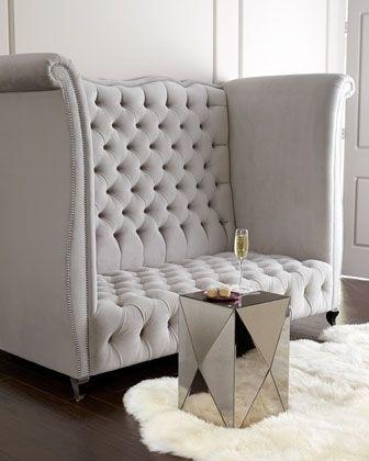 High Back Tufted Sofa   Foter