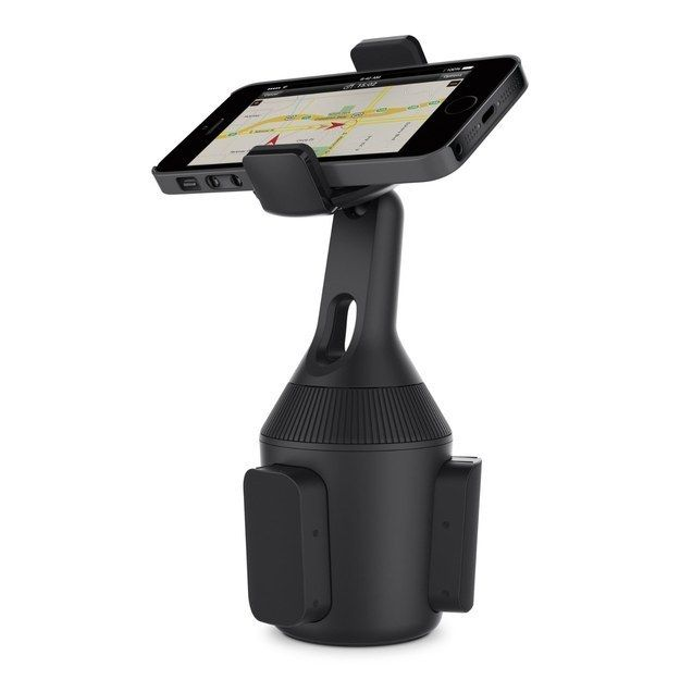 A car mount that slides into your cup holder. | 33 Gifts The iPhone Addict In Your Life Will Want
