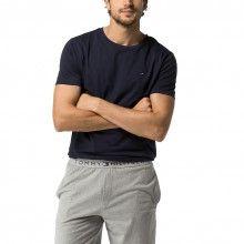 Tommy Hilfiger tmavě modré pánské tričko Tee Icon - 799 Kč