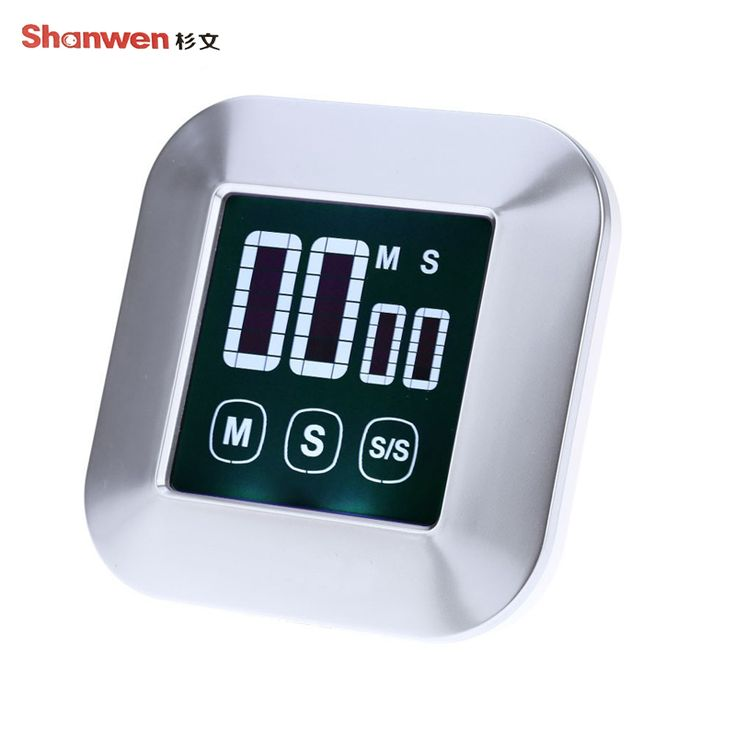 TS-83 LCD Touch Large-screen Countdown Electronic Timer Kitchen Food Kitchen Gadgets Timer ABS Material