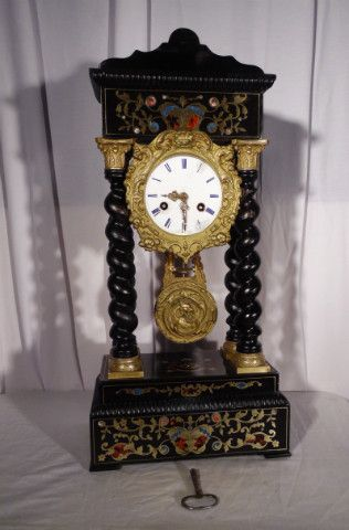 clock napoleon III period marquetery boulle - Pendules - Miroirs - Pendules - Tableaux - Nord Antique