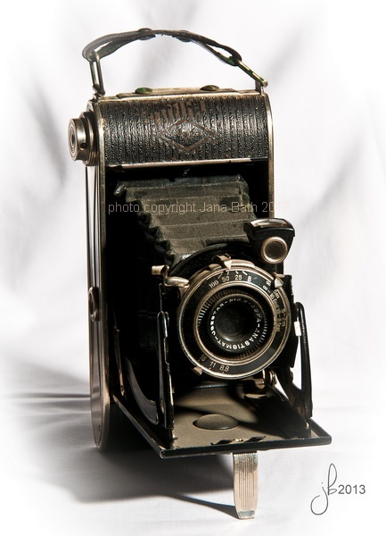 thats my collection of old cameras - camera Agfa, photo Jana Bath 2013, alte Kamera aus meiner Sammlung, Faltkamera, Zieharmonikakamera, Agfa, Vintage