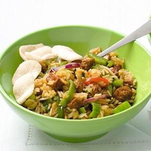 Recept - Nasi goreng met tofu en komkommerzoetzuur - Allerhande