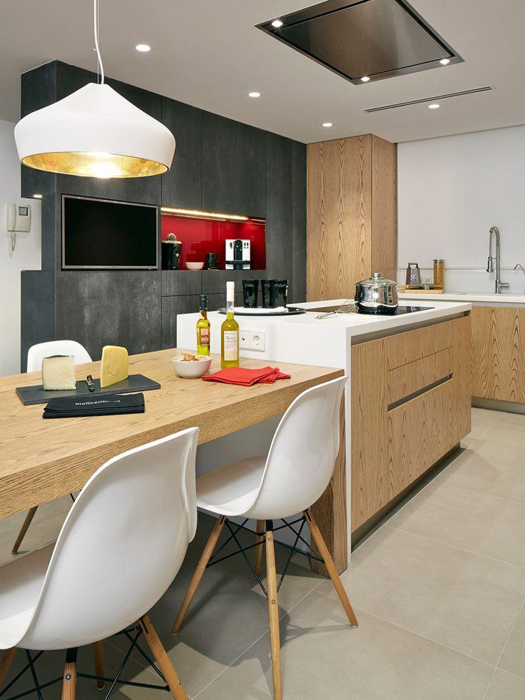 Molins Interiors // cocina - loft - comedor tipo loft - cocina tipo loft - isla cocina