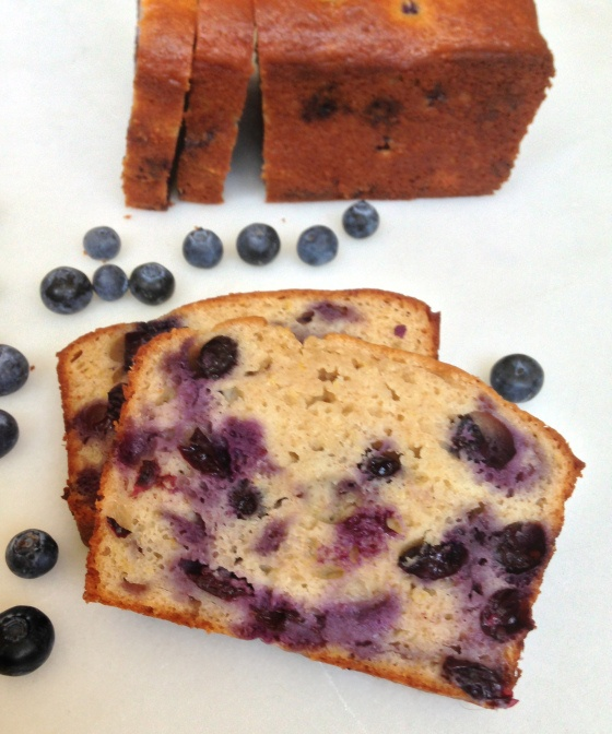 Healthy Blueberry Lemon Yogurt Loaf - the lemon and blueberry taste great together, and the yogurt keeps this bread so moist!