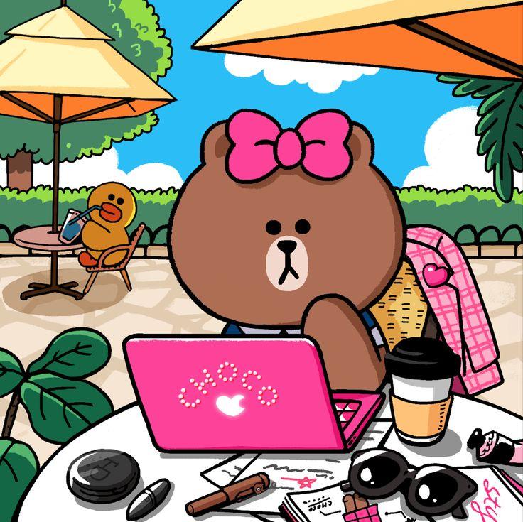 熊大個妹妹......Choco,好可愛呀! #CHOCO #Brown #linefriends