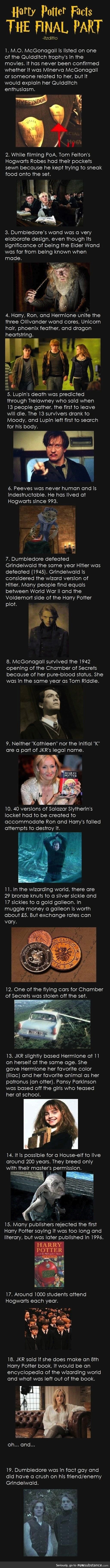 More harry potter facts, for those who don't know