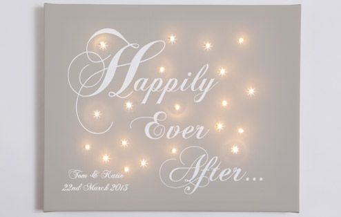 *NEW* Happily Ever After Personalised Canvas from £49.99 #pintowingonedigging