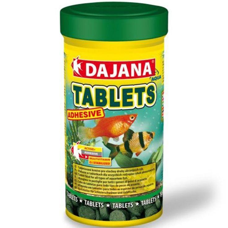 Dajana tablets adhesive Contiene animales acuáticos liofilizados. No enturbia el agua