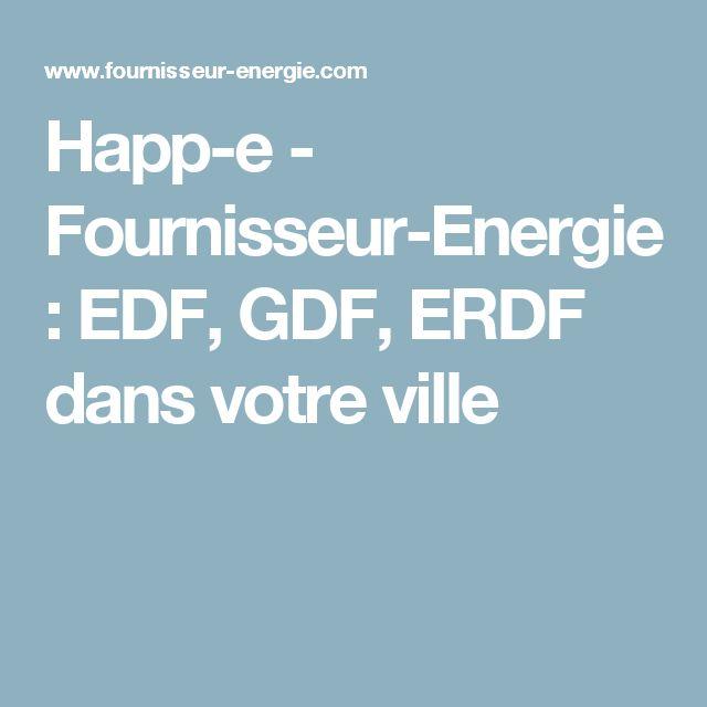 Happ-e - Fournisseur-Energie : EDF, GDF, ERDF dans votre ville