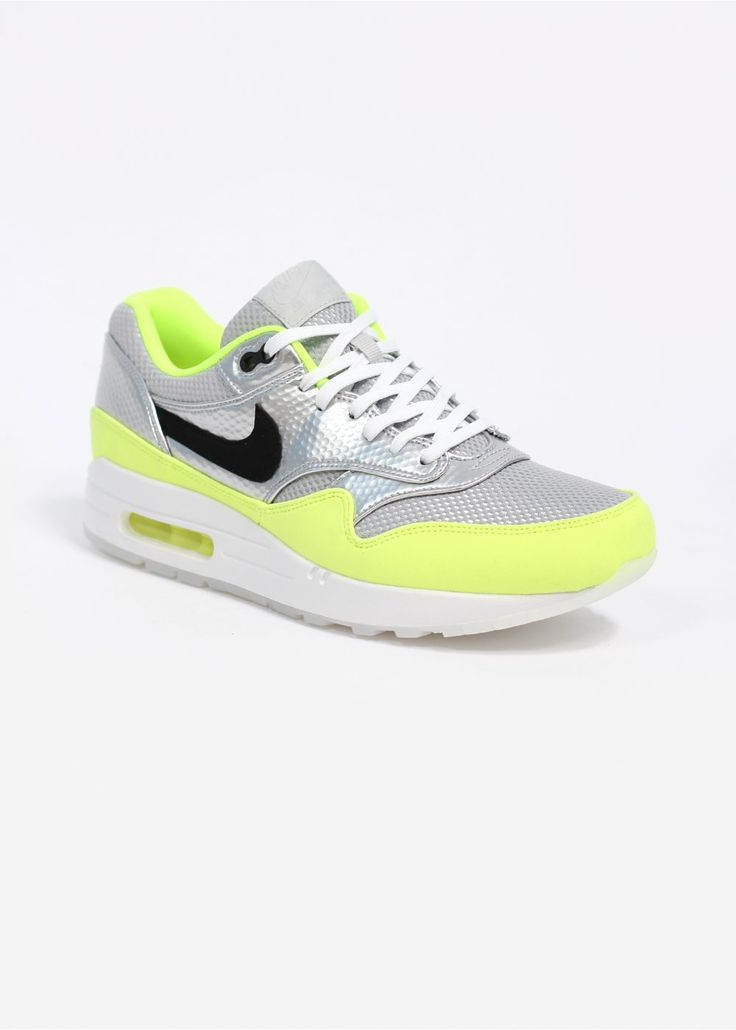 NIKE QUICKSTRIKE AIR MAX 1 FB PREMIUM MERCURIAL QS TRAINERS - METALLIC  SILVER / BLACK /
