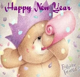 Teddy Bears - Forever Friends - Happy New Year