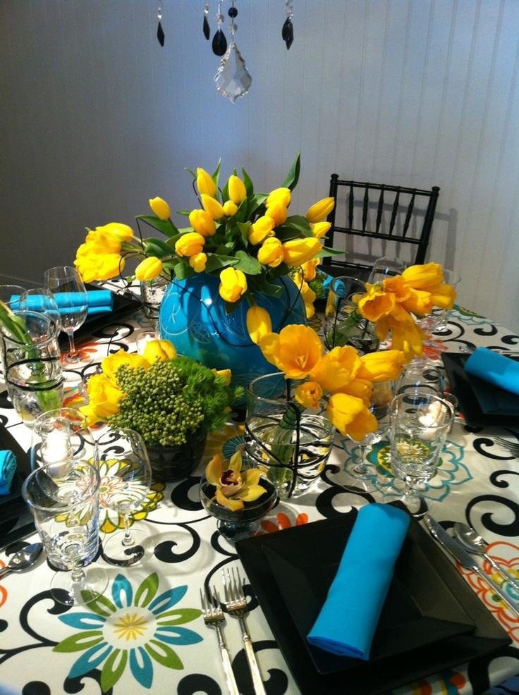 Yellow And Turqouise Party Yellow Weddingwedding Colorstable