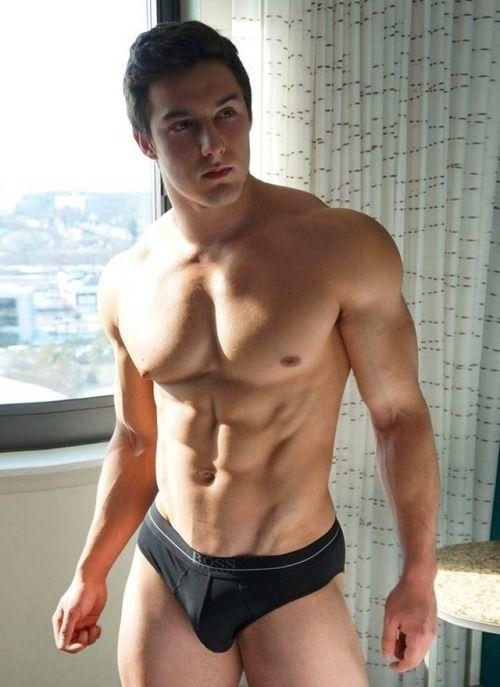 Blonde gay hot male underwear tube