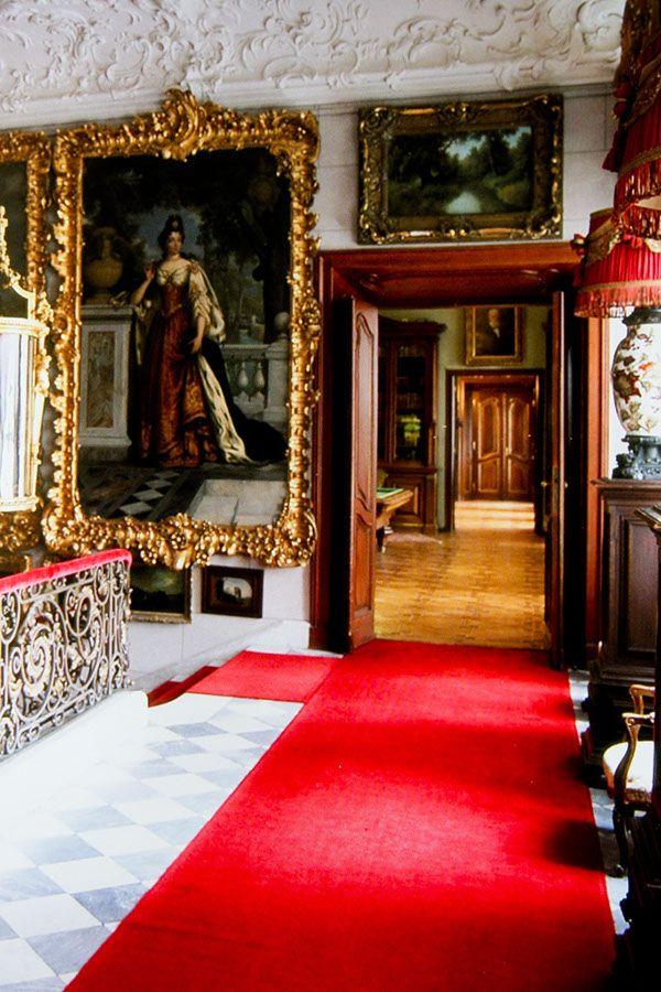 Rococo and neoclassical palace complex of Zamoyski noble family in Kozłówka, Poland - interiors.