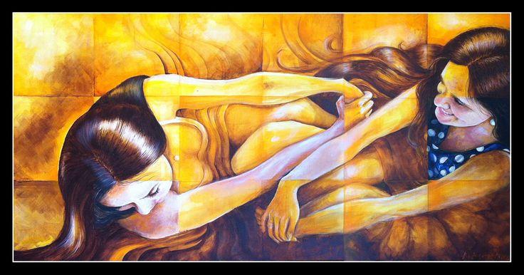 Retrato Acrílico 150 x 75 cms.