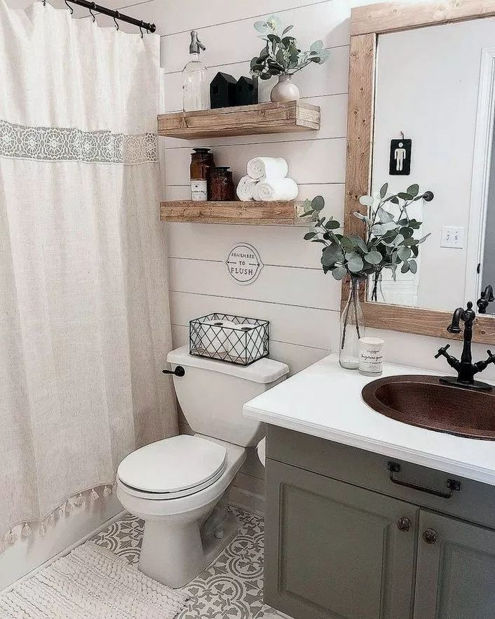 30 rustic bathroom ideas to try at home 24