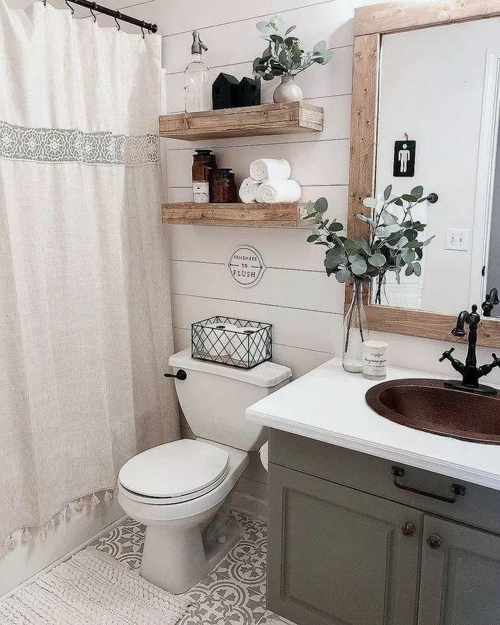 Über 30 rustikale Badideen für zu Hause 24