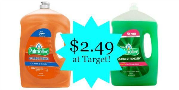 Target: Palmolive Dish Soap 68.5oz Only $2.49!