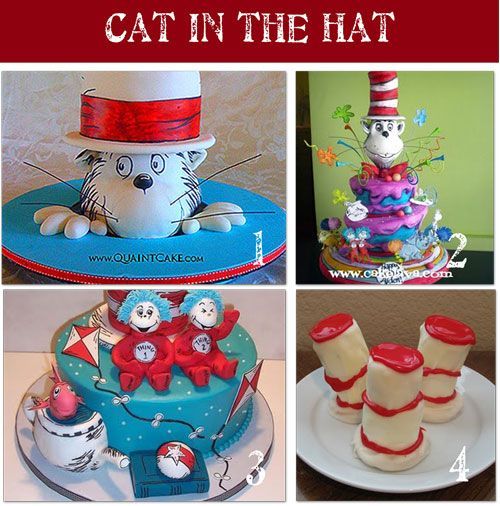 Cat in the hat: Cakes Ideas, Cat, Hats Parties, Birthday Parties, 1St Birthday, Parties Ideas, Dr. Seuss, Birthday Ideas, Birthday Cakes