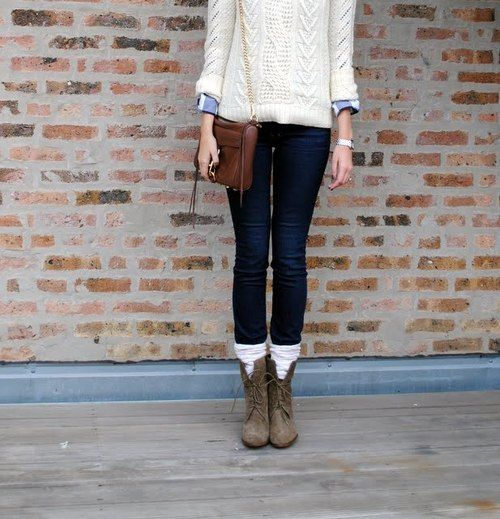 @Zoe Clement: Fall Clothing, Legs Warmers, Sweaters, Fashion, Style, Fall Wins, Socks, Fall Outfits, Combat Boots