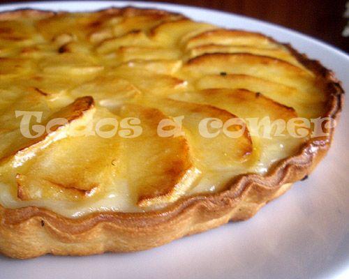 Receta de tarta de manzana con base de hojaldre