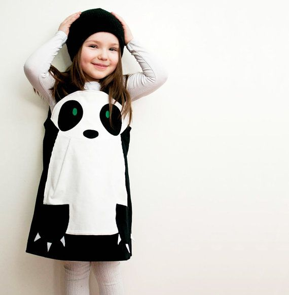 Panda girls play dress by wildthingsdresses on Etsy, $60.00    Perfect for Randa the Panda