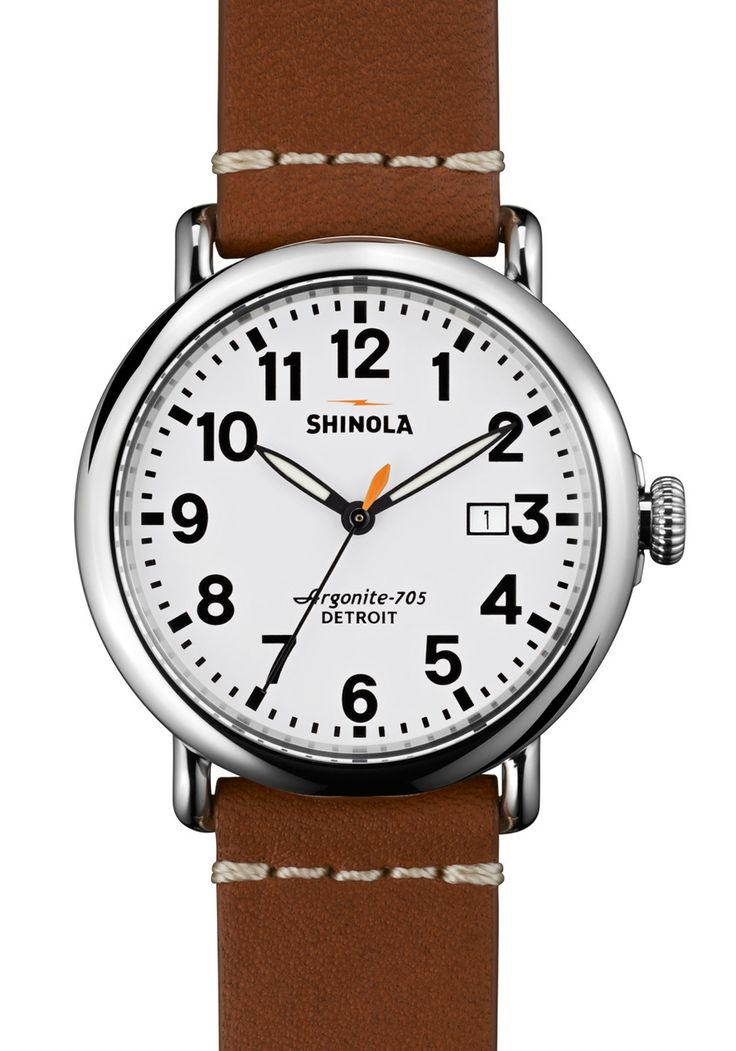 Shinola Runwell w/ Date 41mm, Brown Leather Strap main