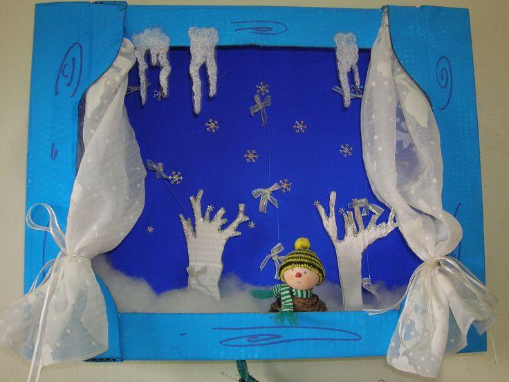 La finestra dell 39 inverno scuola dell 39 infanzia pinterest for Addobbi inverno scuola infanzia