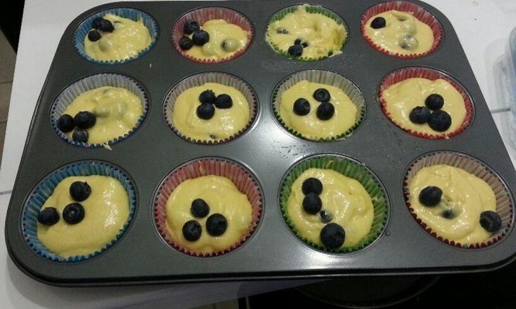Muffin ai mirtilli al profumo di limone