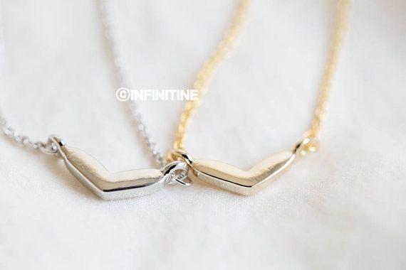 wide heart necklace,N163K