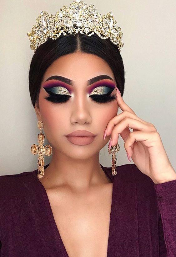 Quelle magnifique maquillage de princesse ! Ce reduce crease est fabuleux !