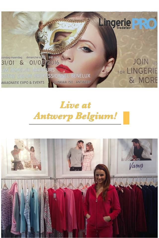 Our first day at Lingerie Pro Tradefair at Antwerp Belgium! Yea! Yea! Yea! — feeling excited in Antwerp, Belgium.