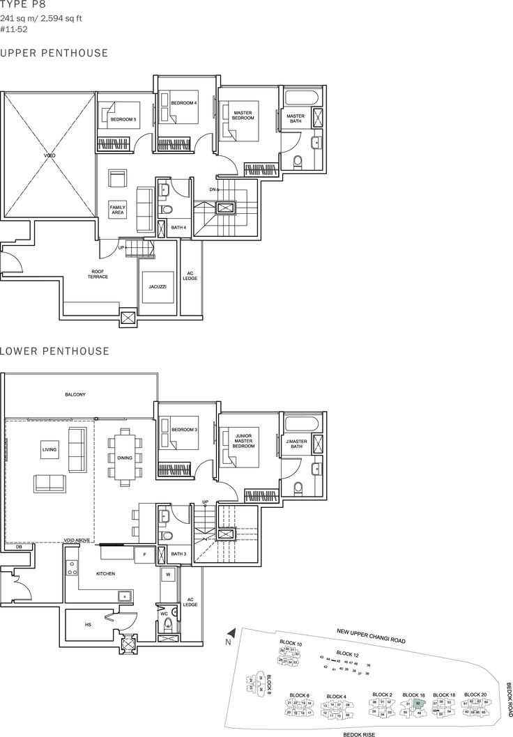 The Glades Condo Floor Plan - 5BR Penthouse - P8 - 241 sqm-2594 sqft.JPG