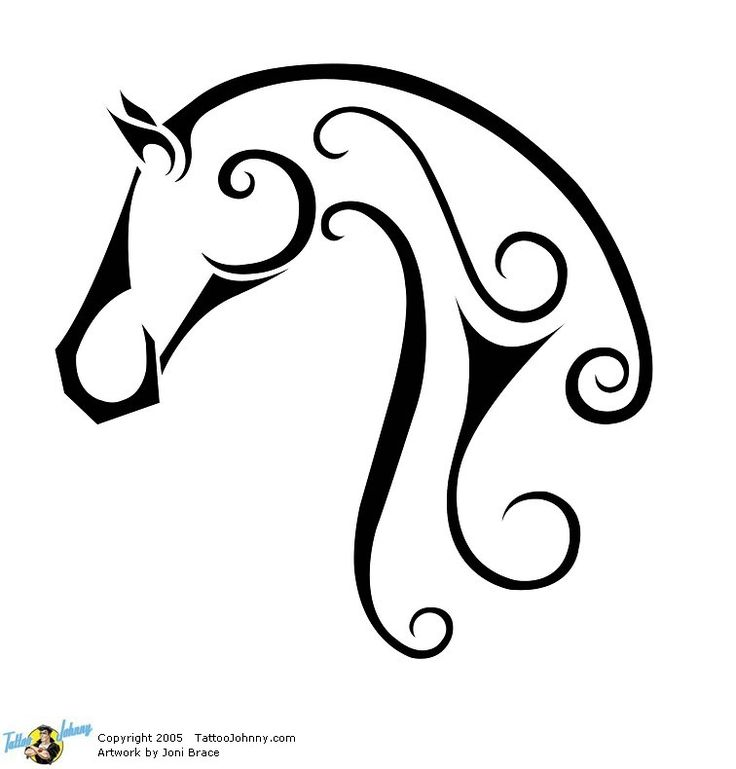 drawing of horse grooming | Pin Horseshoe Vector Clip Art Royalty Free Clipart Tattoo On Pinterest