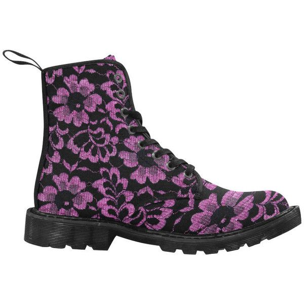 Women's boots with flowers print, purple, canvas boot, doc martens (195 PEN) ❤ liked on Polyvore featuring shoes, boots, wide boots, floral shoes, dr martens shoes, purple canvas shoes and purple boots