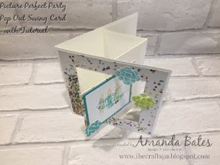 Picture Perfect Party Pop Out Swing Card with Tutorial ..... by Amanda Bates at The Craft Spa in the UK. Independent Stampin' Up! UK Demonstrator, Blogger and Tutorial Publisher with Online Shop 24/7