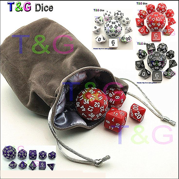 10pcs Digital Dice Set with Bag  High quality 3 Colors d4 d6 d8 2xd10 d12  d20 d24 d30 d60 for dnd RPG Playing Game Dice toy //Price: $17.82 & FREE Shipping //     #VAPE