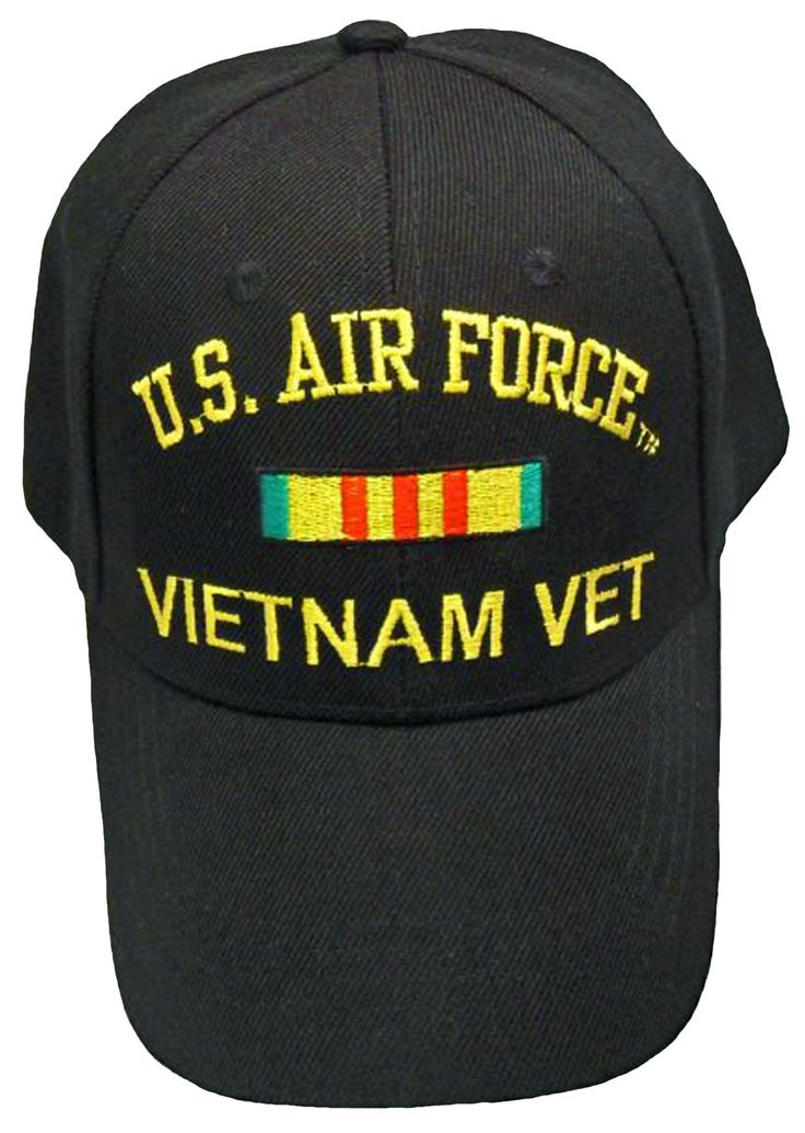 US Air Force Vietnam Vet Baseball Cap Black Military Veteran Hat