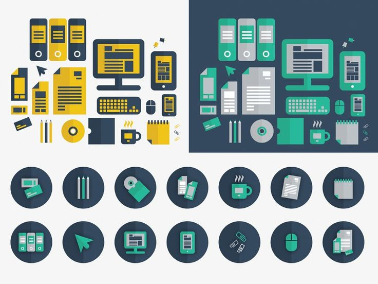 50 + Latest Flat Vector Icons  (Ai,EPS,SVG)