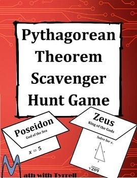 These scavenger hunts are GREAT for students who can't sit still or need to move around. I have never seen my students so engaged with the Pythagorean Theorem.  Fantastic!