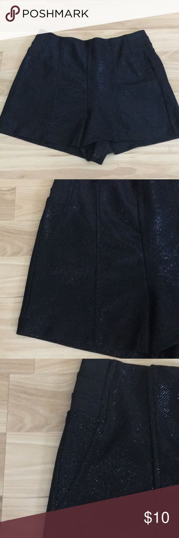 Forever 21 Black Sparkly Shorts Shell 52% Polyester  42% Metallic  Backing 94% Polyester  6% Spandex   In great condition Forever 21 Shorts