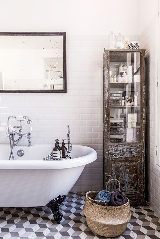 bohemian modern bathroom decor via milk decoration / sfgirlbybay
