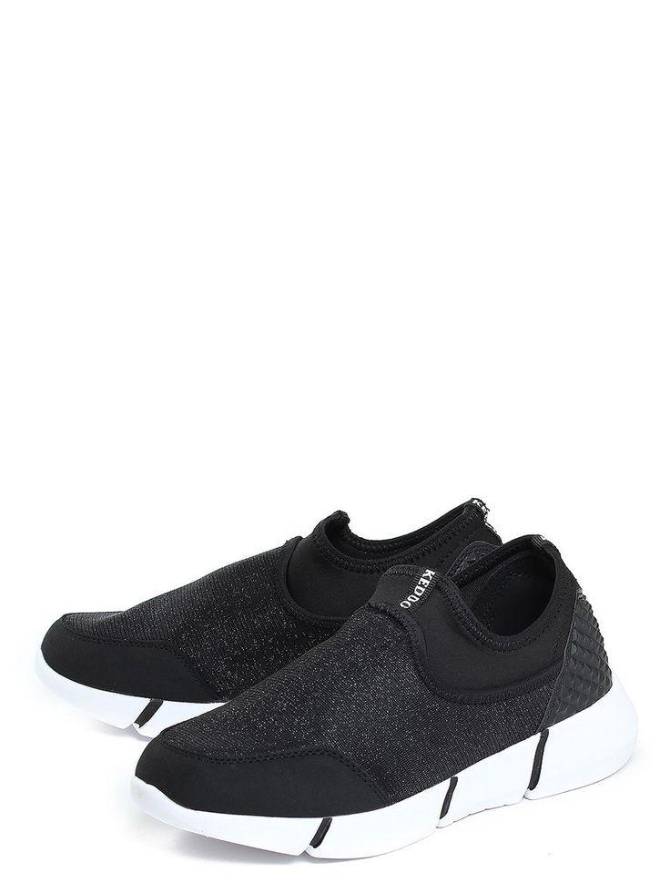 Кроссовки женские осенние - купить черные кроссовки текстильные для женщин