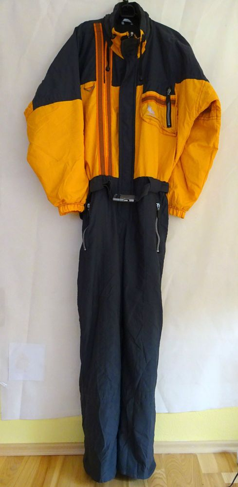 LUHTA Cosmic Explorer SKI SUIT Size Euro 52 GB 42 Black & Orange Top Quality in Sporting Goods, Skiing & Snowboarding, Clothing, Hats & Gloves | eBay