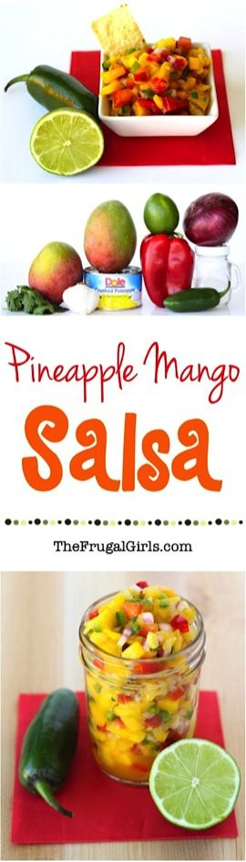 Mango Pineapple Salsa Recipe from TheFrugalGirls.com